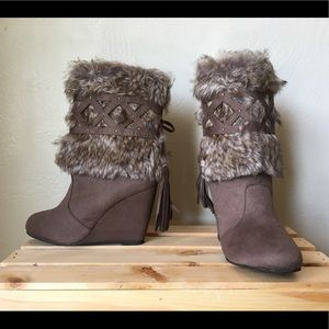 Not Rated faux fur boot 7